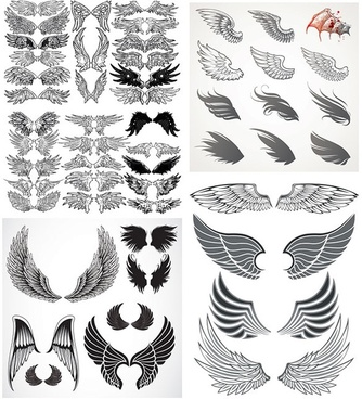 totem variety of wings vector