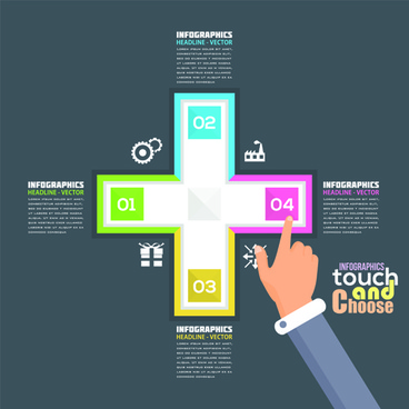 touch with choose business template vector