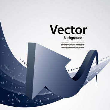 touched by a sense of the arrow vector technology background 1