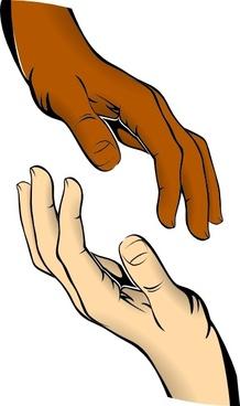Touching Hands clip art