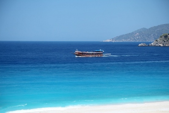 tourist boat at the sea