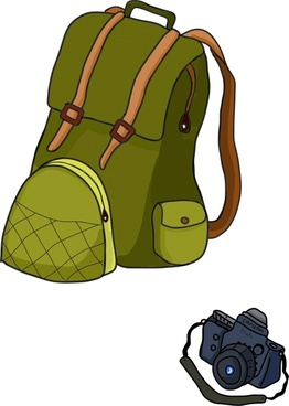 tourist devices realistic cartoon vector illustration
