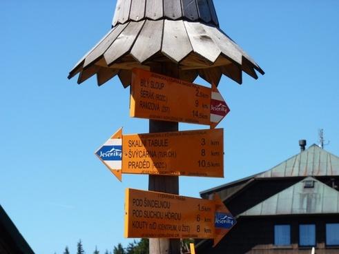 tourist signpost