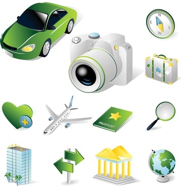 tourist theme icon vector