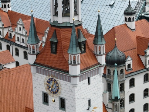 tower spires old town hall