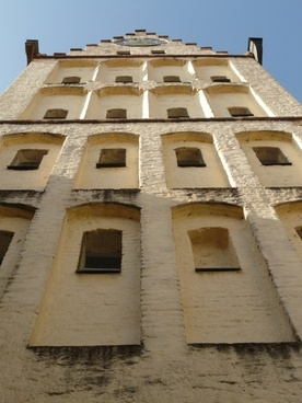 tower white horn window
