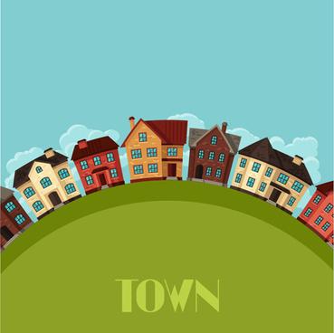 town house vector design