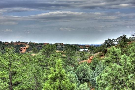 town near the garden at garden of the gods colorado