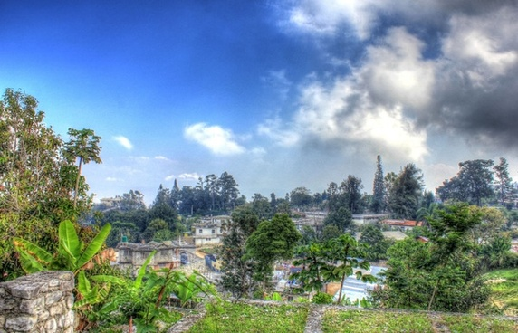 town on the mountain side at haiti baptist mission