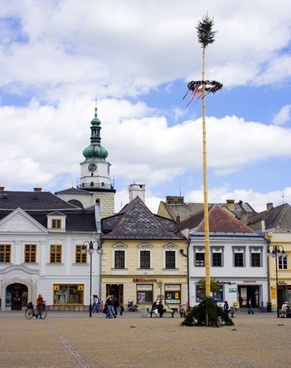 town square in may