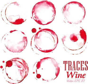 traces wine design vector
