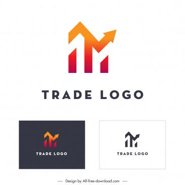 trade logo template flat arrows lines sketch