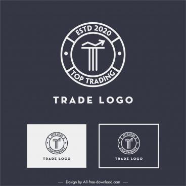 trade logotype flat classic circle arrow decor