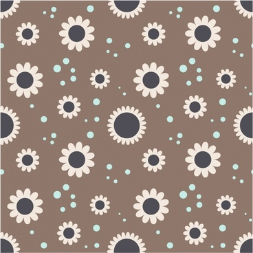floral pattern classical flat petal icons decor