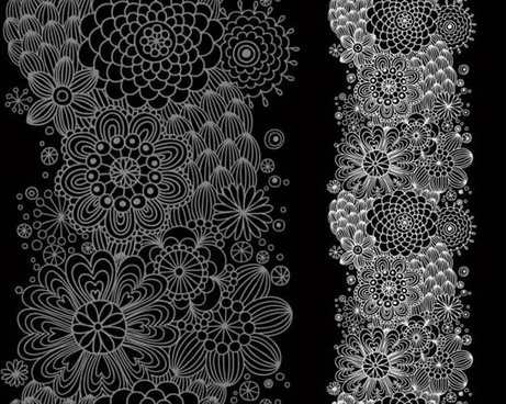 floral pattern classical dark design petals decor