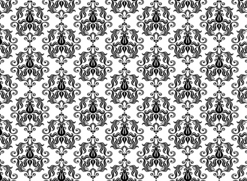 traditional pattern repeating symmetric flat curves sketch