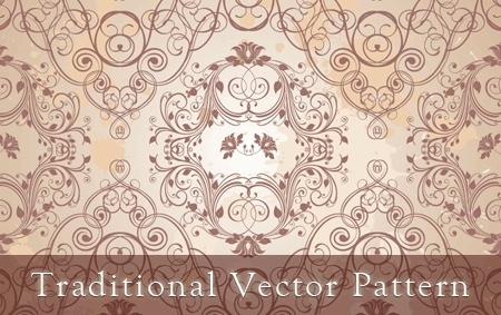 traditional pattern background curves sketch style