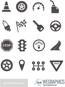 traffic elements vector icons