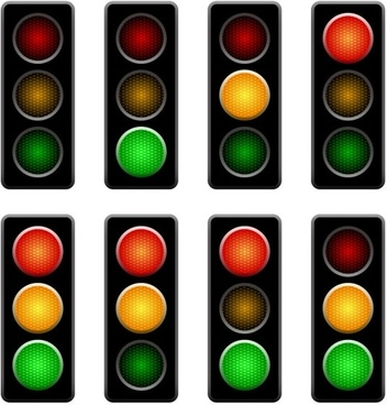traffic lights 01 vector