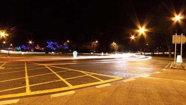 traffic night paint