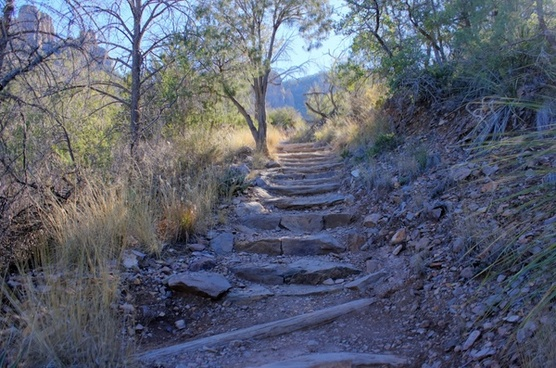 trail steps at big bend national park texas