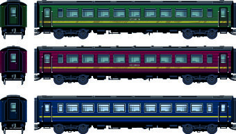 train design elements vector graphic