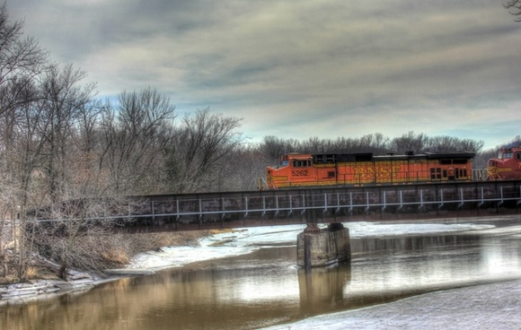train on the river on the great river trail wisconsin