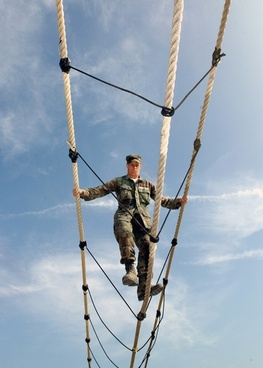training obstacle ropes course