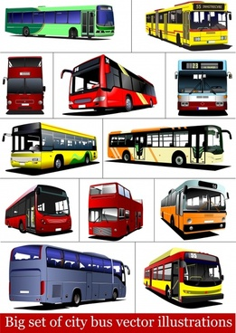 tram train bus vector
