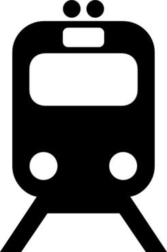 Tram Train Subway Transportation Symbol clip art