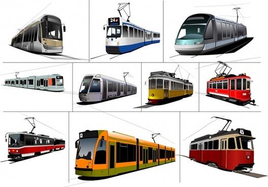 tram train vector