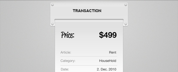 Transaction Receipt PSD