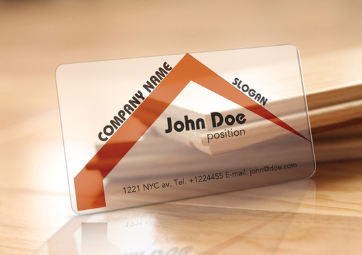 translucent plastic realtor business card