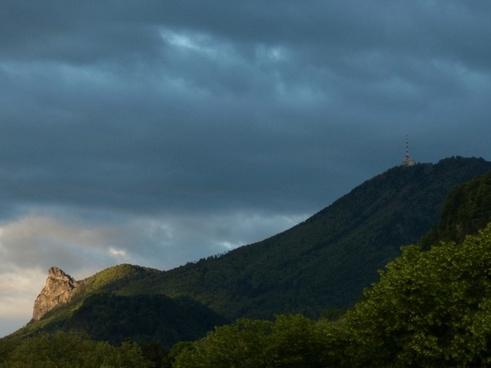 transmission tower transmitting antenna mountain