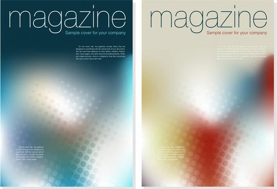 magazine cover templates vivid bokeh decor