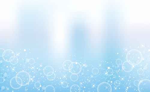 transparent bubbles with background vector