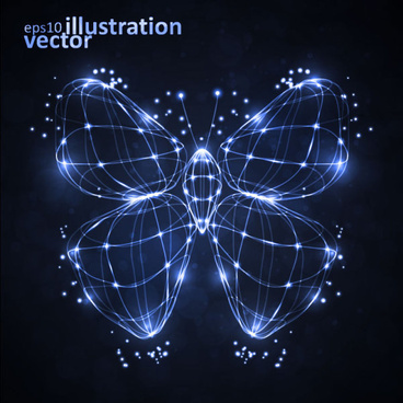 transparent butterfly vector illustration