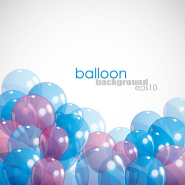 transparent colored balloons vectro backgrounds