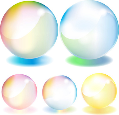 transparent colorful sphere vector