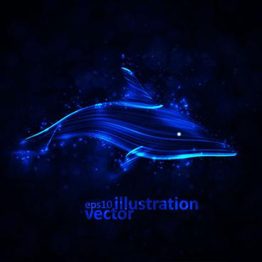 transparent dolphin vector illustration