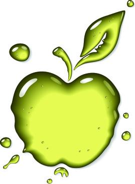 transparent fruit glass design vector