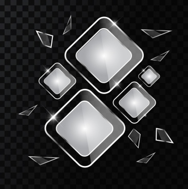 transparent glass background shiny black white geometric design