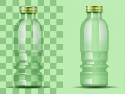 transparent glass bottle icons