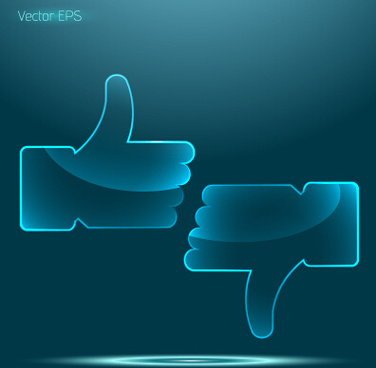 transparent glass gesture vector