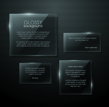 transparent glass shapes backgrounds