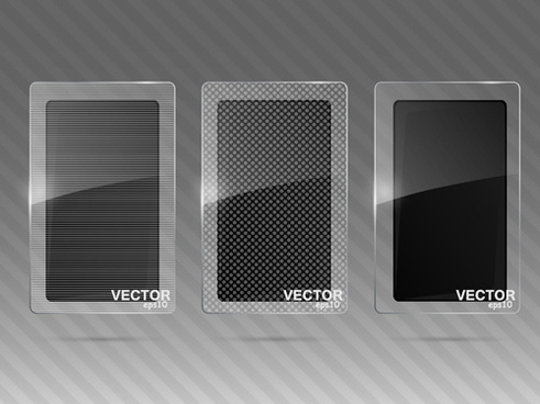 transparent glass styles web elements vectors