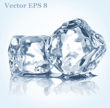 transparent ice art background vector