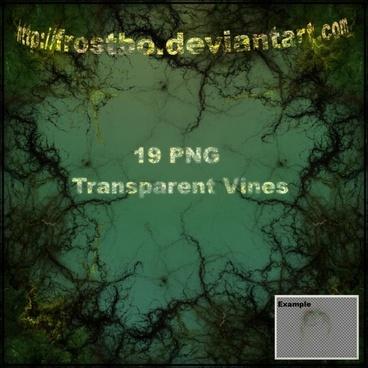 Transparent Vine Brushes
