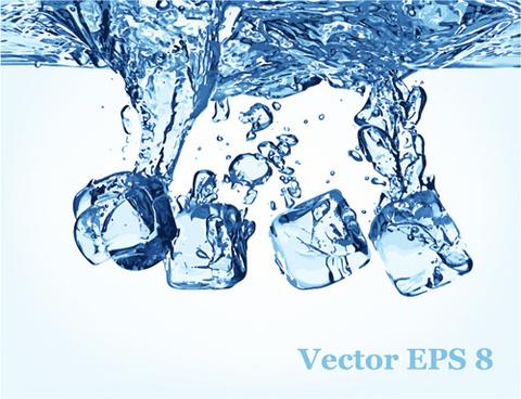 transparent water splash effect vector background