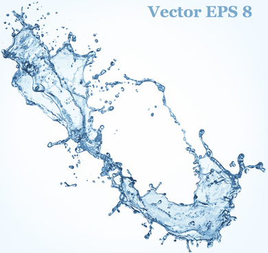 transparent water splash effect vector background